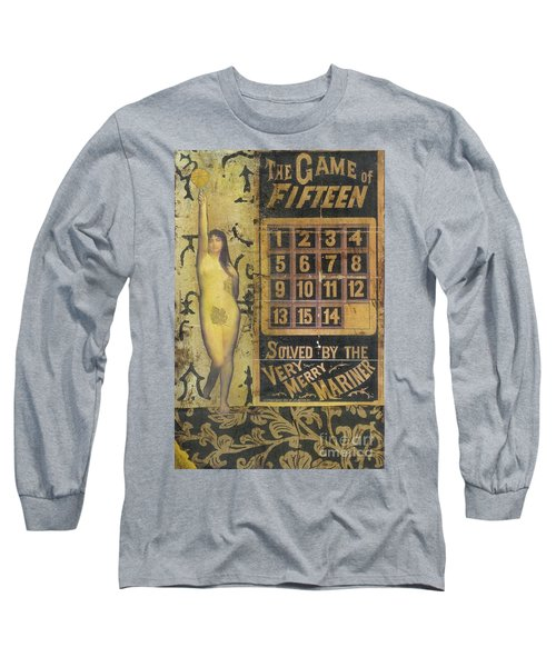 Long Sleeve T-Shirt featuring the mixed media Game Of Fifteen by Desiree Paquette