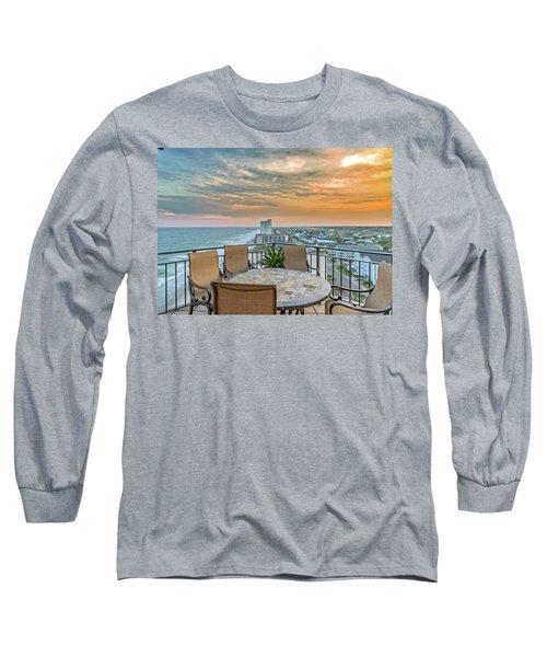 Garden City Beach View Long Sleeve T-Shirt