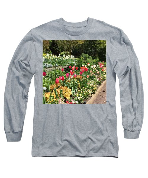 Garden Flowers Long Sleeve T-Shirt by Kay Gilley