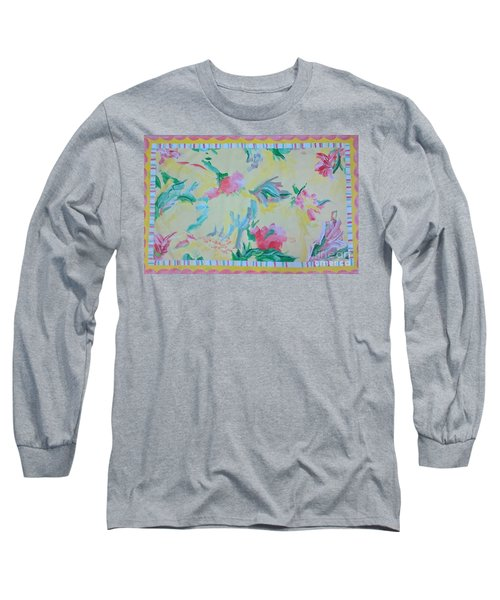 Garden Party Floorcloth Long Sleeve T-Shirt by Judith Espinoza