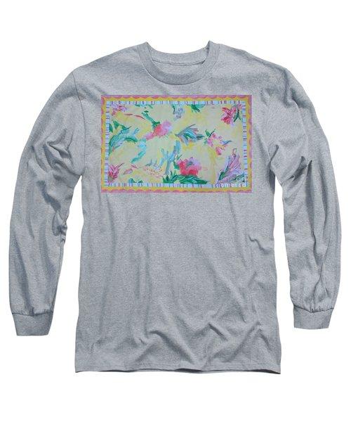 Garden Party Floorcloth Long Sleeve T-Shirt