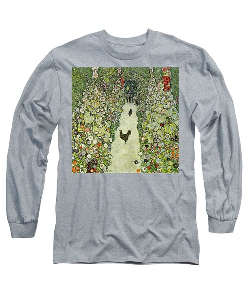 Garden With Chickens Long Sleeve T-Shirt