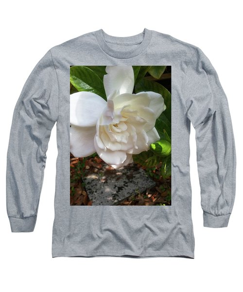 Long Sleeve T-Shirt featuring the photograph Gardenia Blossom by Ginny Schmidt