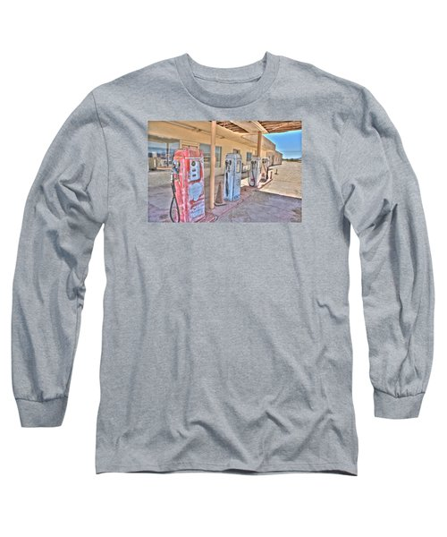 Gas Pumps Long Sleeve T-Shirt by Matthew Bamberg