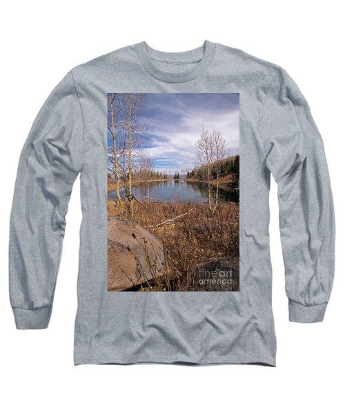 Gates Lake Ut Long Sleeve T-Shirt by Cindy Murphy - NightVisions