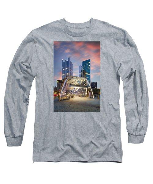 Gateway Station At Pittsburgh  Long Sleeve T-Shirt by Emmanuel Panagiotakis