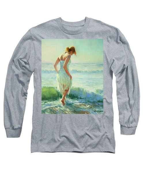Long Sleeve T-Shirt featuring the painting Gathering Thoughts by Steve Henderson