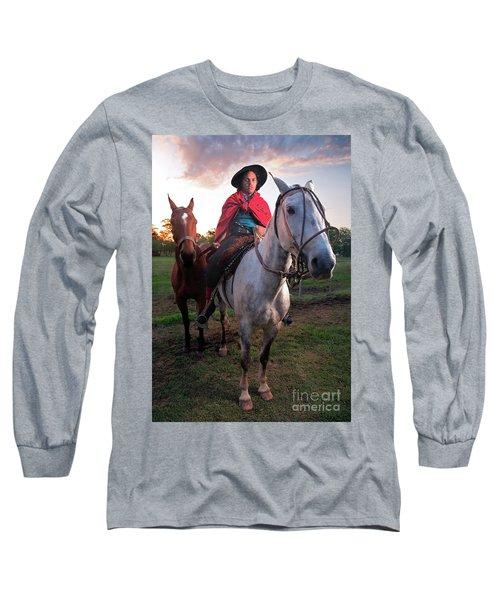 Gaucho Argentino Long Sleeve T-Shirt by Bernardo Galmarini