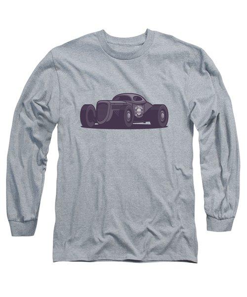 Gaz Gl1 Custom Vintage Hot Rod Classic Street Racer Car - Black Long Sleeve T-Shirt