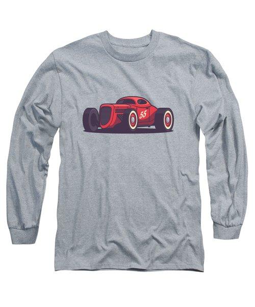 Gaz Gl1 Custom Vintage Hot Rod Classic Street Racer Car - Red Long Sleeve T-Shirt