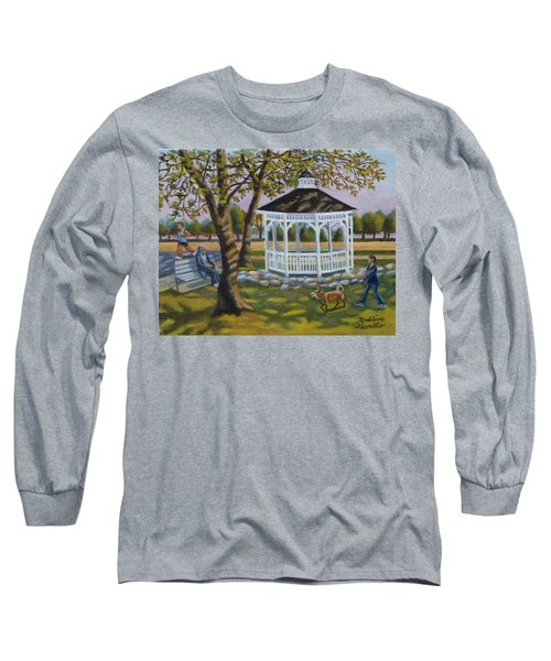 Gazebo In Fireman's Park  Long Sleeve T-Shirt
