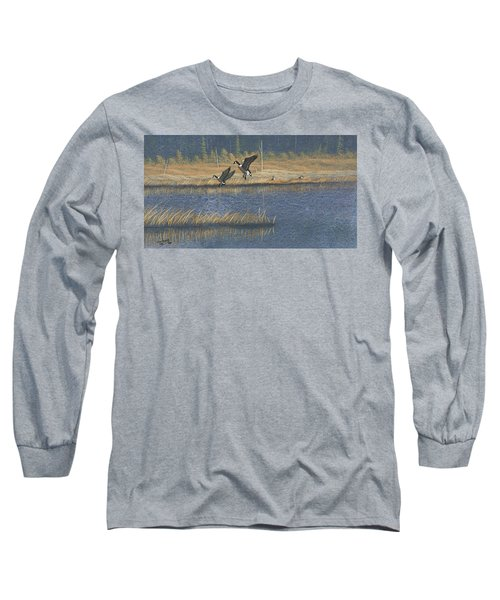 Geese Long Sleeve T-Shirt by Richard Faulkner