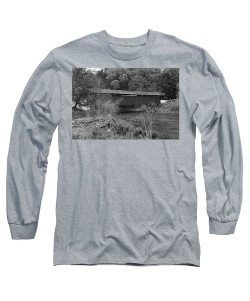 Geiger Covered Bridge B/w Long Sleeve T-Shirt