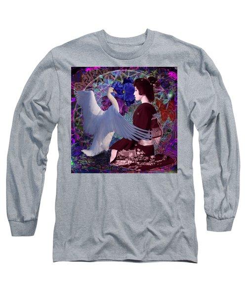Geisha Swan Dance Long Sleeve T-Shirt by Joseph Mosley