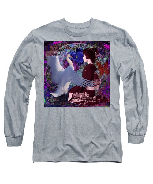 Geisha Swan Dance Long Sleeve T-Shirt