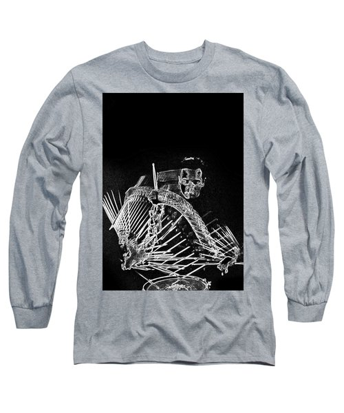 Long Sleeve T-Shirt featuring the mixed media Gene Krupa by Charles Shoup