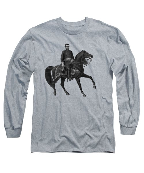 General Grant On Horseback  Long Sleeve T-Shirt