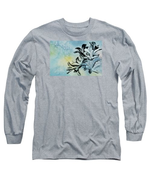 Gentle Blooms Long Sleeve T-Shirt by Manjot Singh Sachdeva