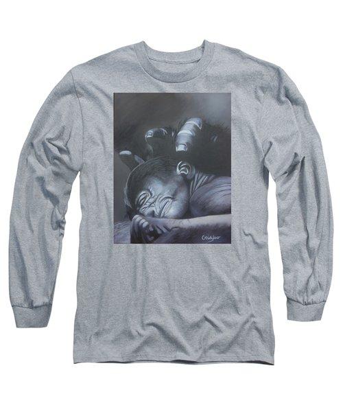 Gentle Caress Long Sleeve T-Shirt by Jean Yves Crispo