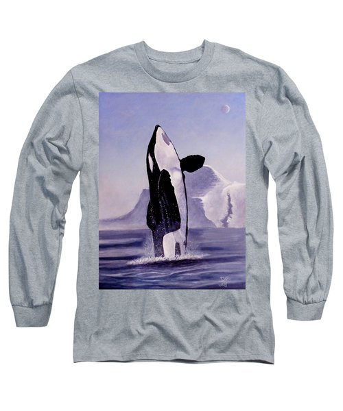 Long Sleeve T-Shirt featuring the painting Gentle Giant by Dan Wagner