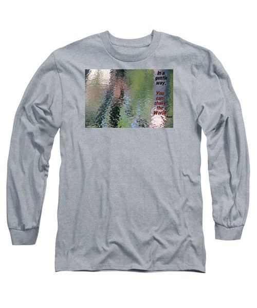 Gentleness Is Victory Long Sleeve T-Shirt by David Norman