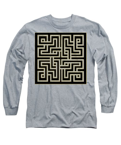 Geo Pattern 5 - Transparent Long Sleeve T-Shirt by Chuck Staley