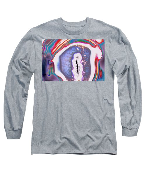 Long Sleeve T-Shirt featuring the photograph Geode Abstract by M Diane Bonaparte