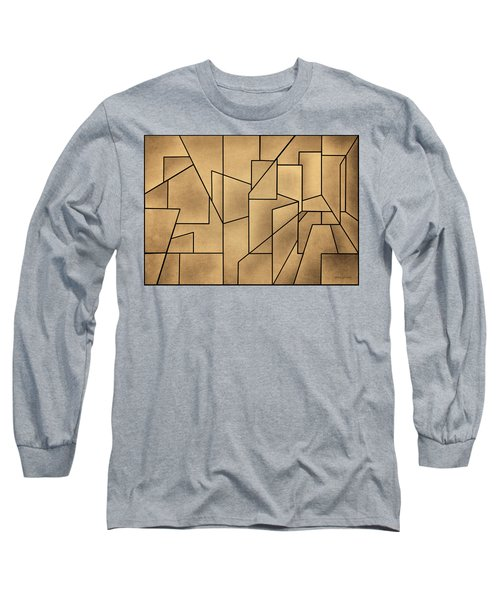 Geometric Abstraction IIi Toned Long Sleeve T-Shirt