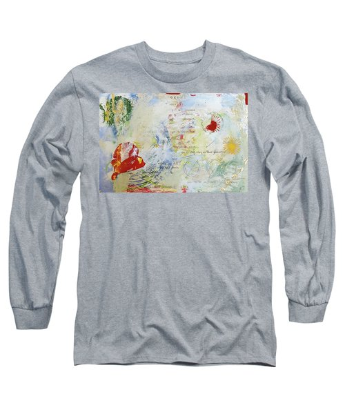 Geometry Of Desire Circles Long Sleeve T-Shirt by Ann Tracy
