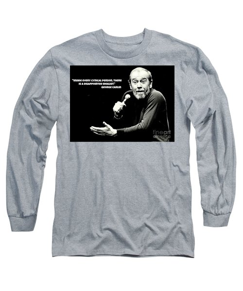 George Carlin Art  Long Sleeve T-Shirt by Pd