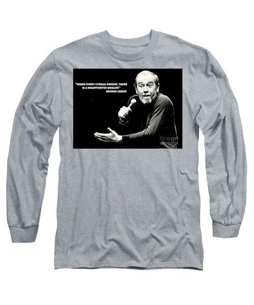 George Carlin Art  Long Sleeve T-Shirt