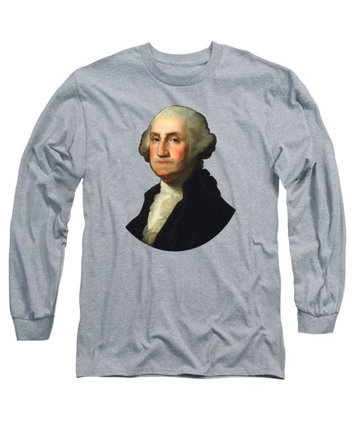 George Washington - Rembrandt Peale Long Sleeve T-Shirt
