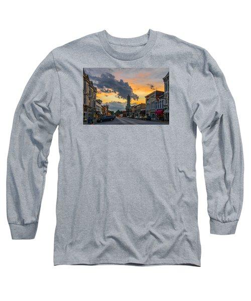 Georgetown Ky Summer Evening Long Sleeve T-Shirt by Ulrich Burkhalter