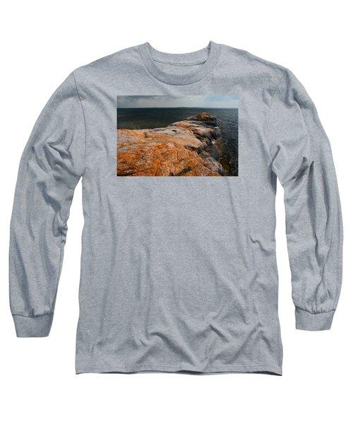 Georgian Bay Rocks Lichen-3675 Long Sleeve T-Shirt
