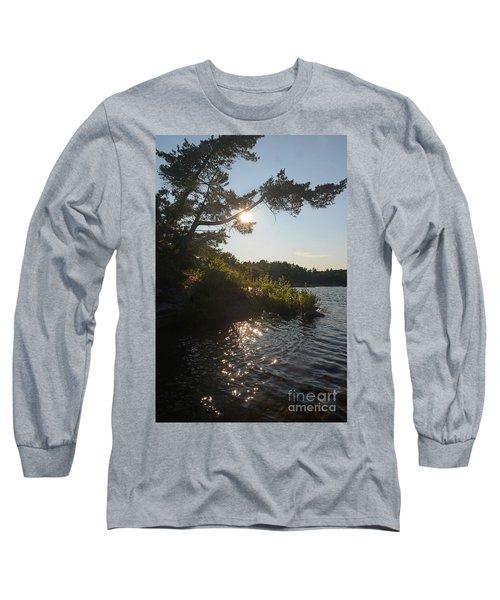 Georgian Bay Sunset Tree Long Sleeve T-Shirt