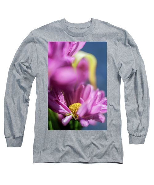 Gerber Daisy In Purple Long Sleeve T-Shirt
