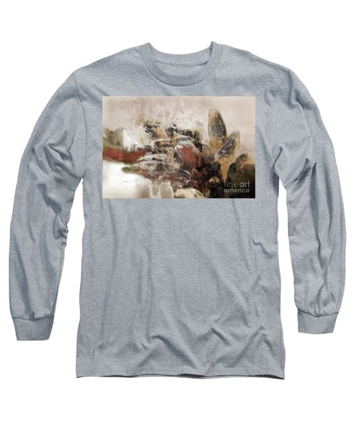 Long Sleeve T-Shirt featuring the mixed media Gerberie - 152s by Variance Collections