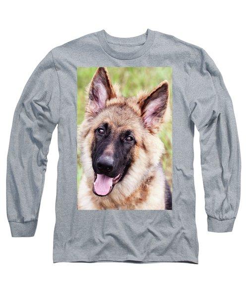 German Shepherd Dog Long Sleeve T-Shirt by Stephanie Frey
