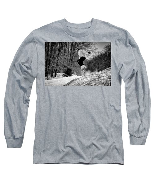 Long Sleeve T-Shirt featuring the photograph Getting Air On The Snowboard by David Patterson