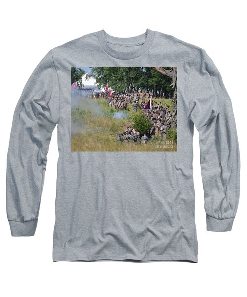 Gettysburg Confederate Infantry 8825c Long Sleeve T-Shirt