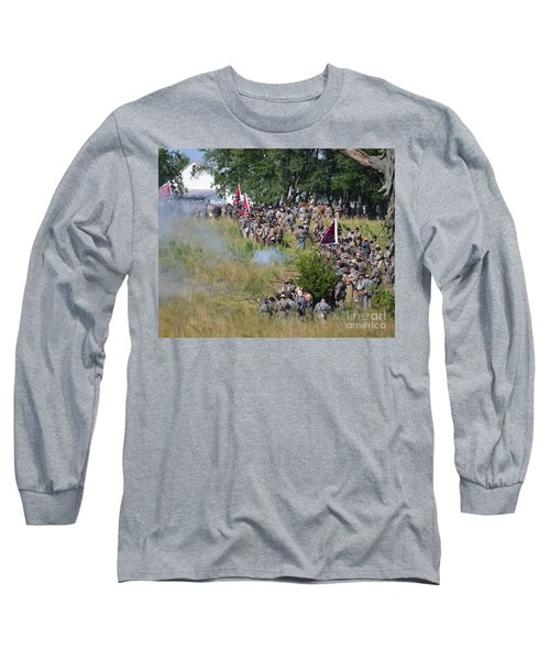 Gettysburg Confederate Infantry 8825c Long Sleeve T-Shirt