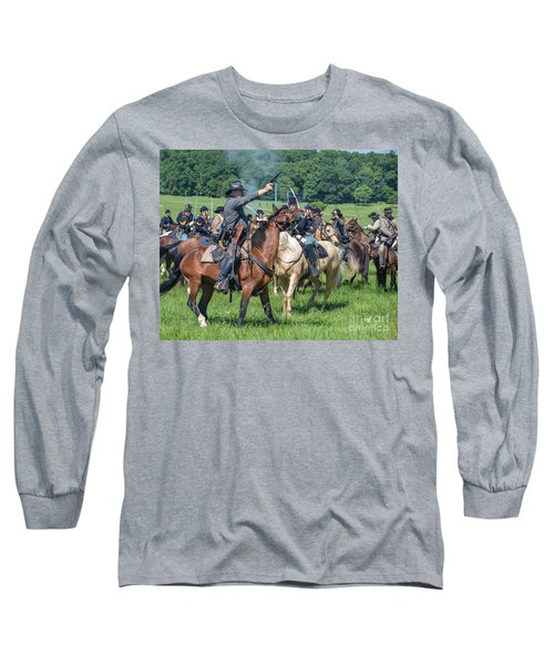Gettysburg  Union Cavalry 7920c  Long Sleeve T-Shirt