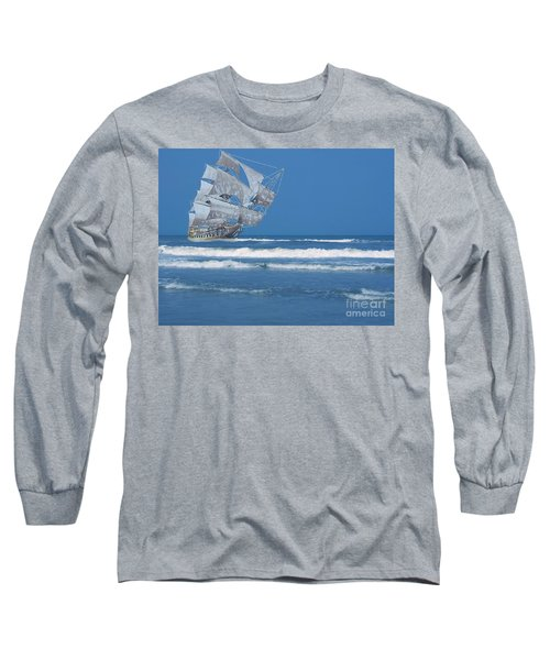 Ghost Ship On The Treasure Coast Long Sleeve T-Shirt
