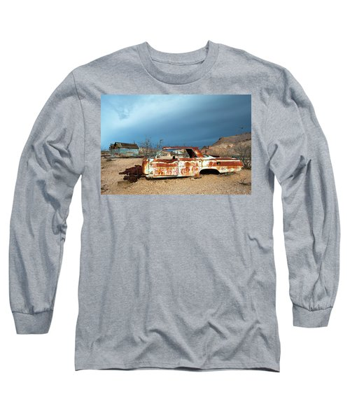 Ghost Town Old Car Long Sleeve T-Shirt by Catherine Lau