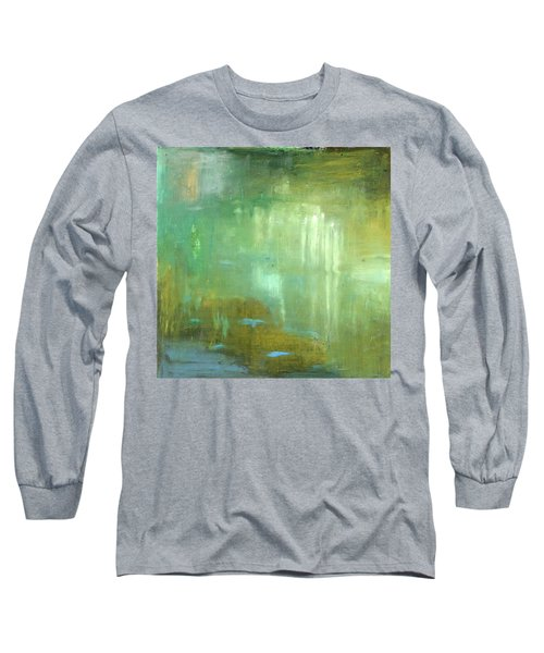 Long Sleeve T-Shirt featuring the painting Ghosts In The Water by Michal Mitak Mahgerefteh