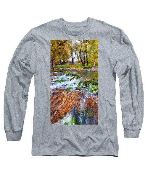 Giant Springs 2 Long Sleeve T-Shirt by Susan Kinney