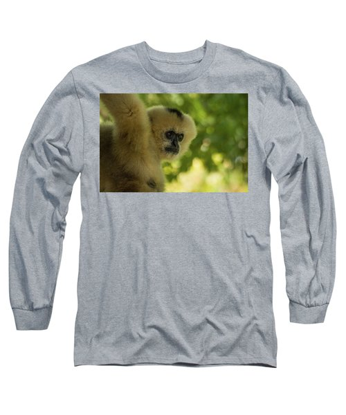 Gibbon Portrait Long Sleeve T-Shirt
