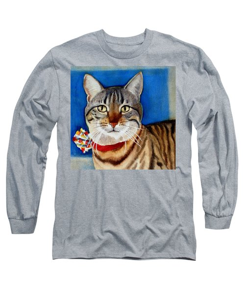 Long Sleeve T-Shirt featuring the painting Ginger by Marilyn Jacobson