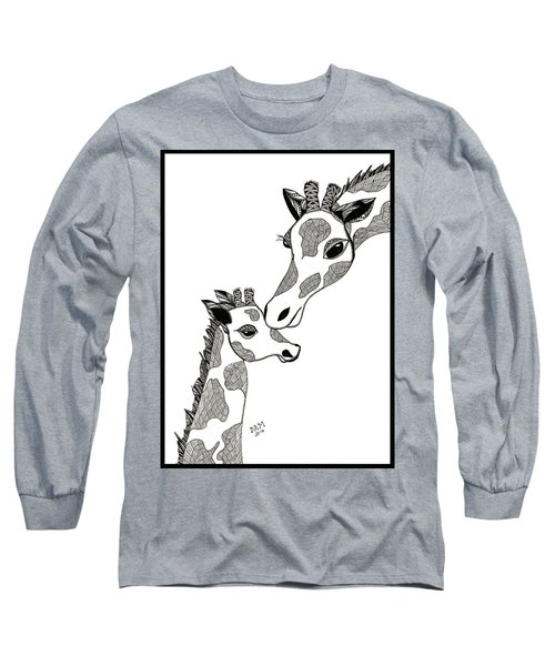 Giraffe Mom And Baby Long Sleeve T-Shirt