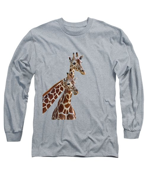 Giraffe Pair - Transparent Long Sleeve T-Shirt
